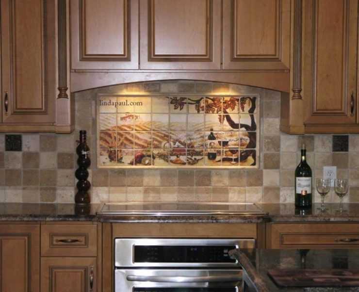 Кафель на кухне: отделка плиткой рабочей поверхности, фото дизайнерских решений