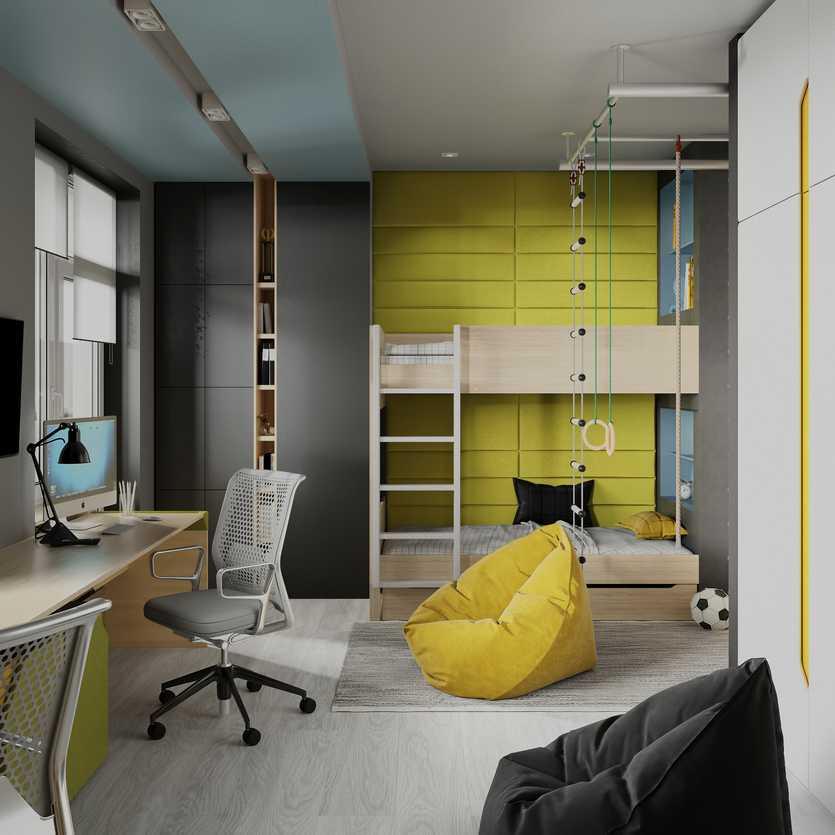 Комната для мальчика-подростка: тематическое пространство для развития