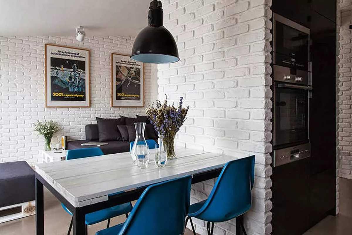 Кирпич в интерьере кухни: 75 стильных решений оформления дизайна