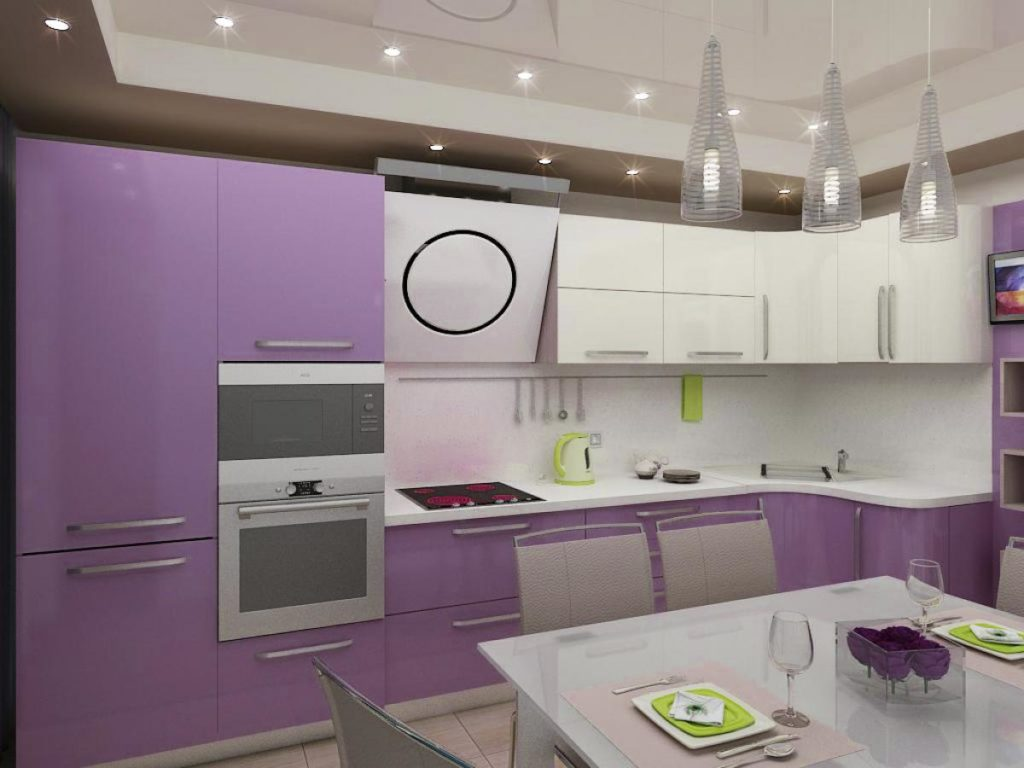 Как обустроить кухню в фиолетовом цвете: 5 советов от дизайнеров
