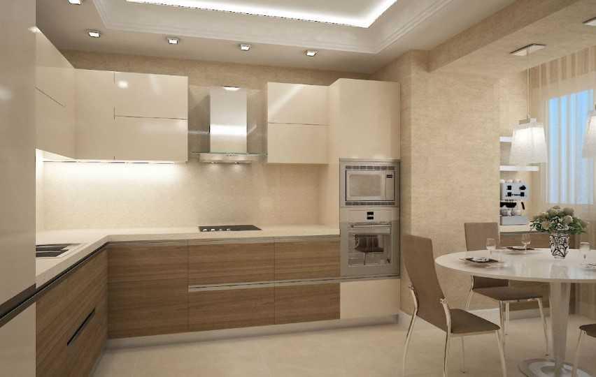 только дизайн кухни в бежевых тонах фото крайней мере