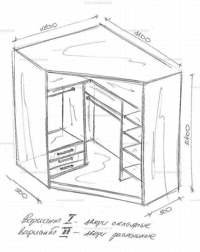 шкафы купе угловой фотогалерея чертежи фотогалерей