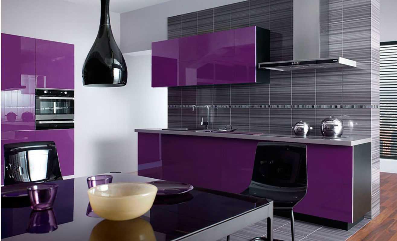 Фиолетовая кухня – современные идеи по сочетанию цвета и оттенков. особенности подбора аксессуаров при оформлении кухни