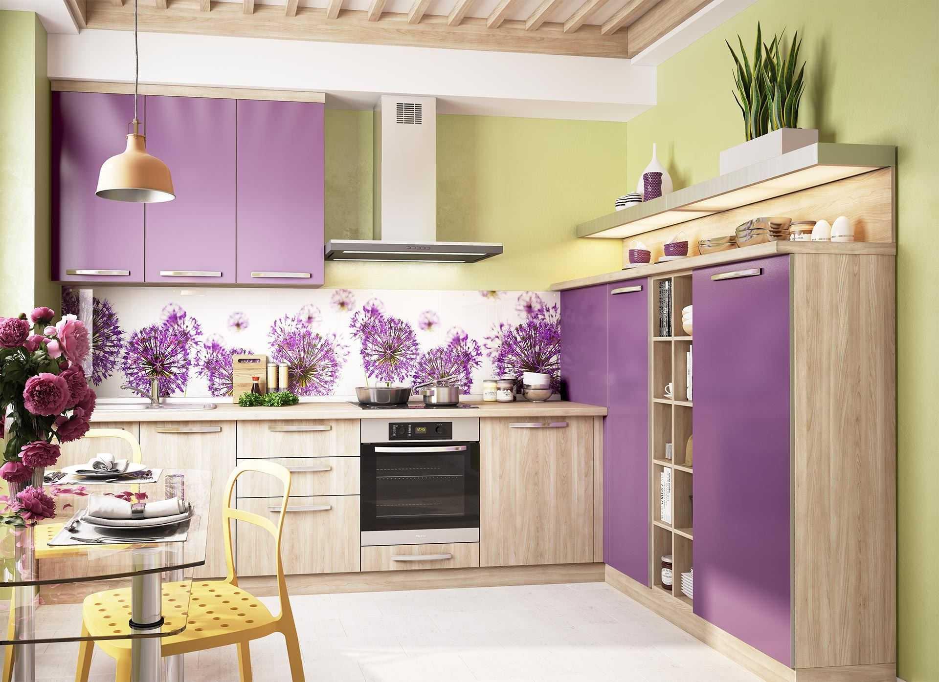 Сиреневая кухня: 30 фото идей дизайна и отличных сочетаний с другими цветами