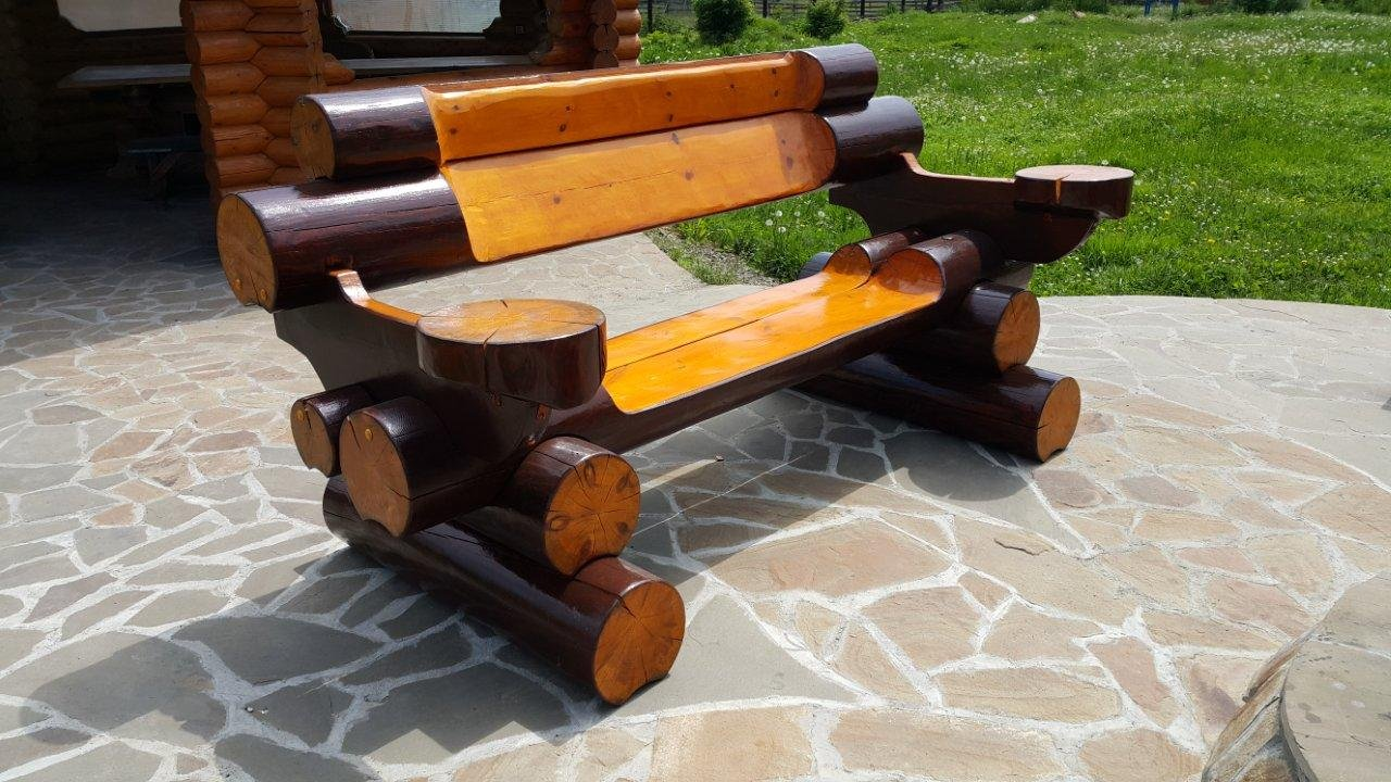 созданы специально скамейки и столы из бревна фото один режиссер