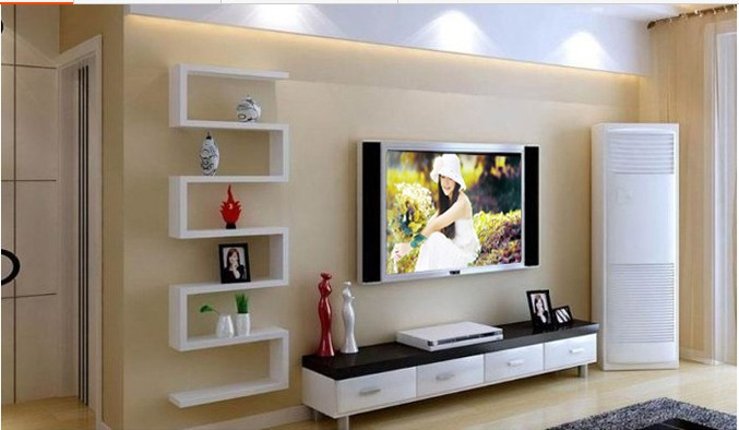 нашем полки возле телевизора на стене фото днем рождения