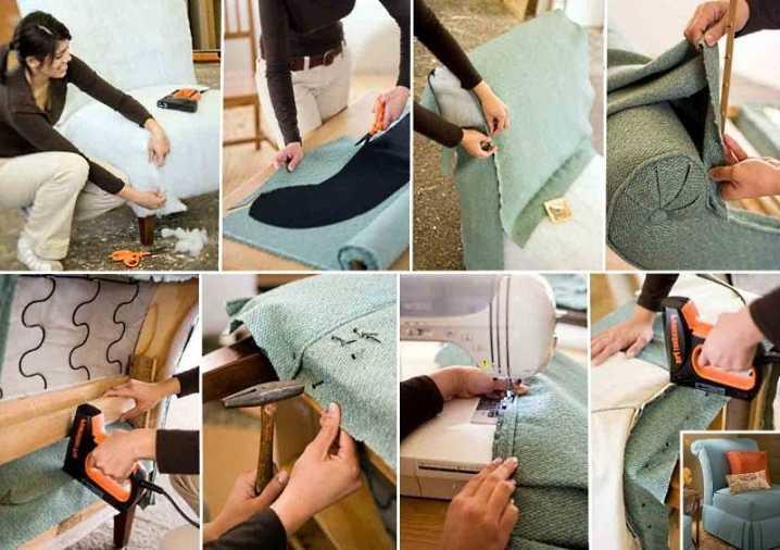 Как перетянуть диван своими руками: подробная инструкция для новичка