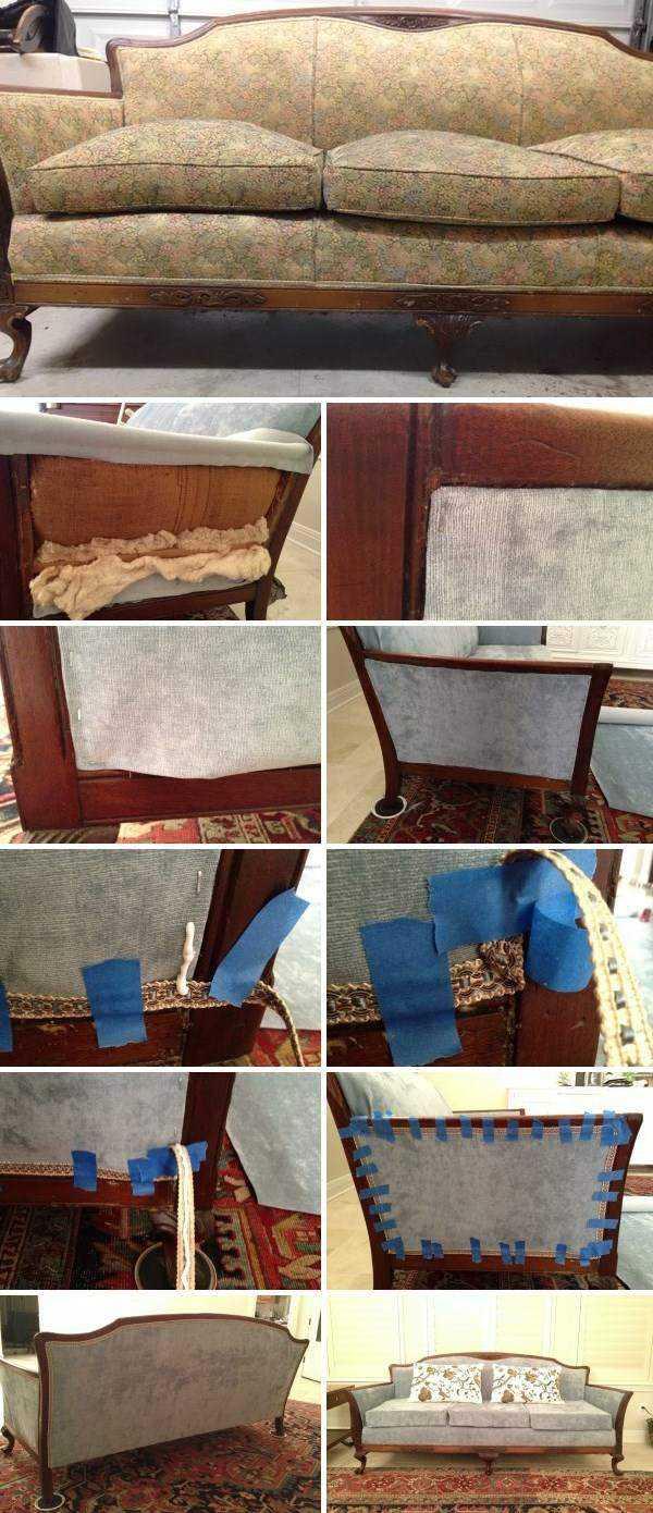 Выполняем перетяжку дивана самостоятельно — пошаговая инструкция