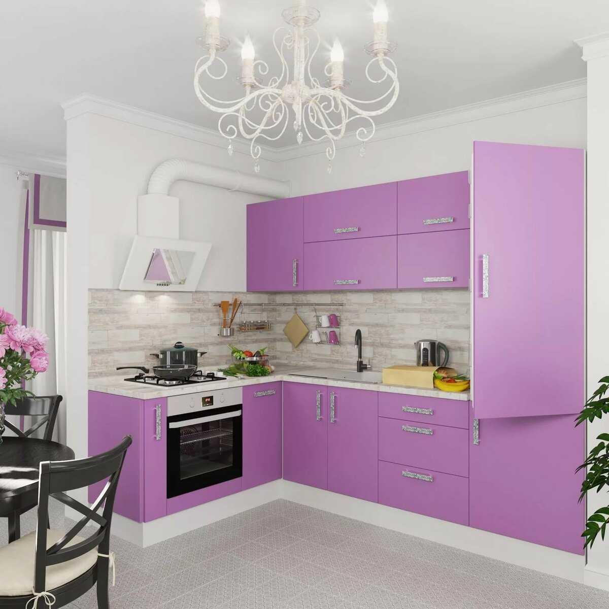 Интерьер фиолетовой кухни: как создать кухню своей мечты со вкусом