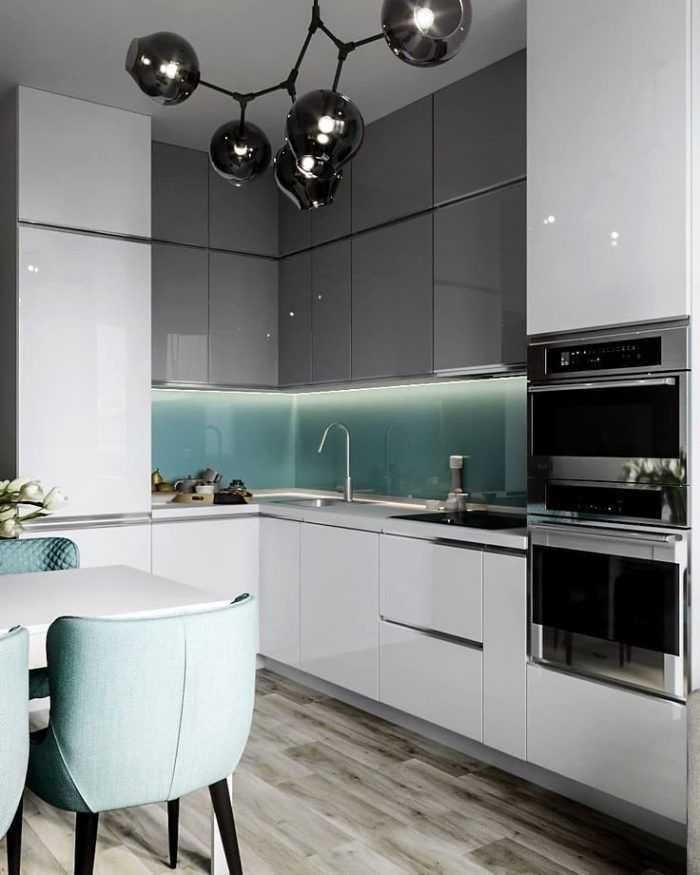 80 вдохновляющих фото серых кухонь в интерьере + советы по оформлению
