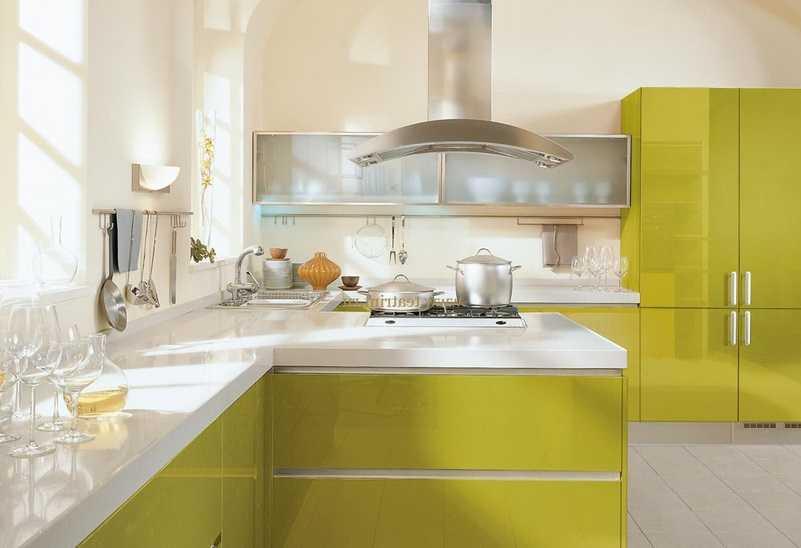 Фисташковая кухня (49 фото): кухонный гарнитур фисташкового цвета в интерьере, особенности сочетания с другими цветами