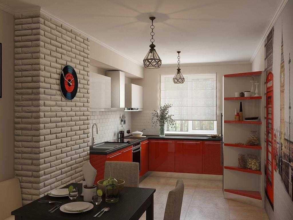 Кирпичная стена в интерьере комнат, стены под кирпич в квартире