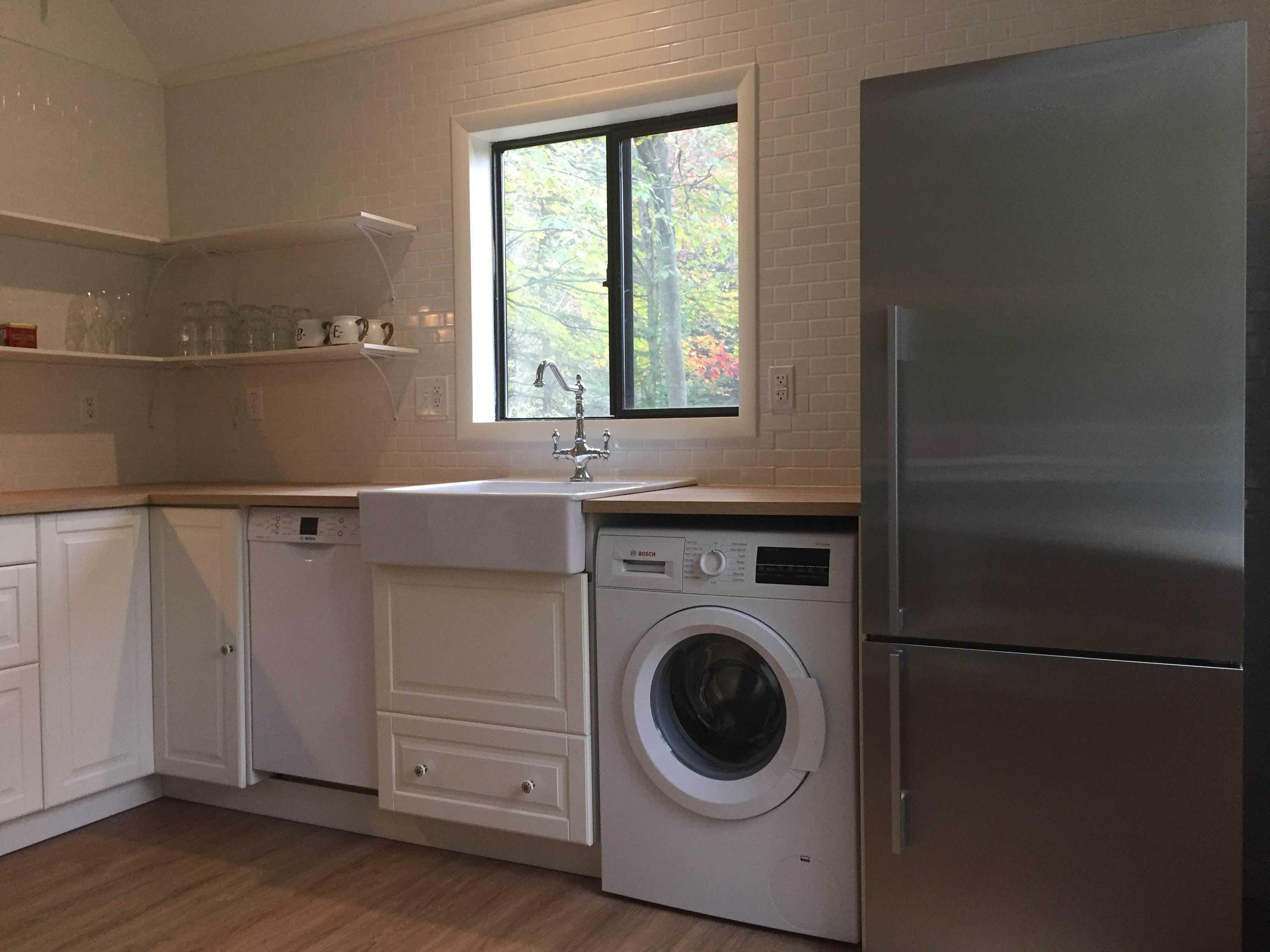 кухня со встроенной стиральной машиной фото экспозиция