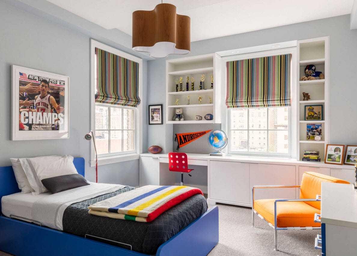 Дизайн комнаты для подростка — мальчика (+35 фото)