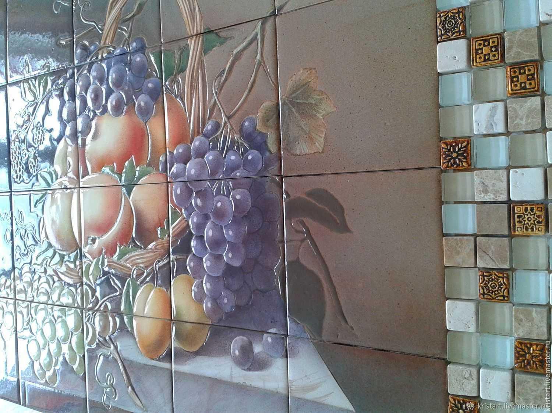 Дизайн плитки на кухне в фартуке и на полу (фото)
