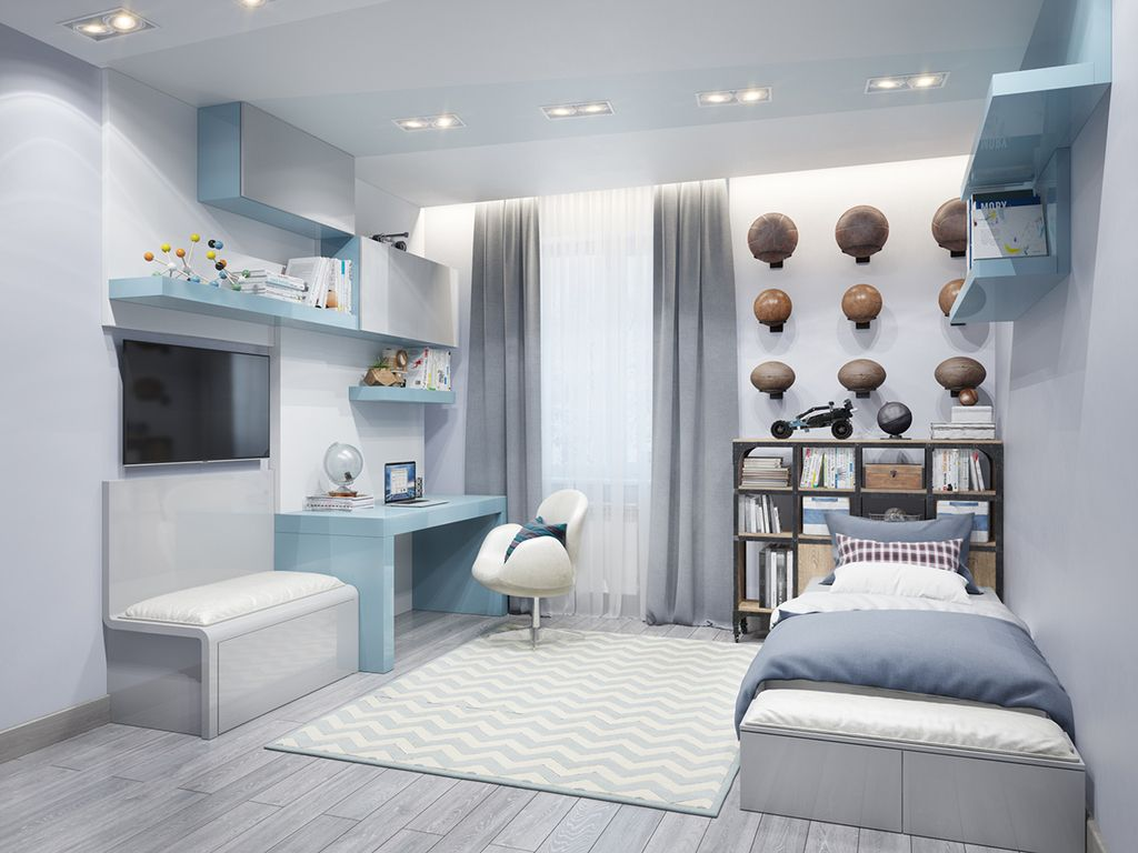 . дизайн комнаты для мальчика подростка: как выбрать оформить