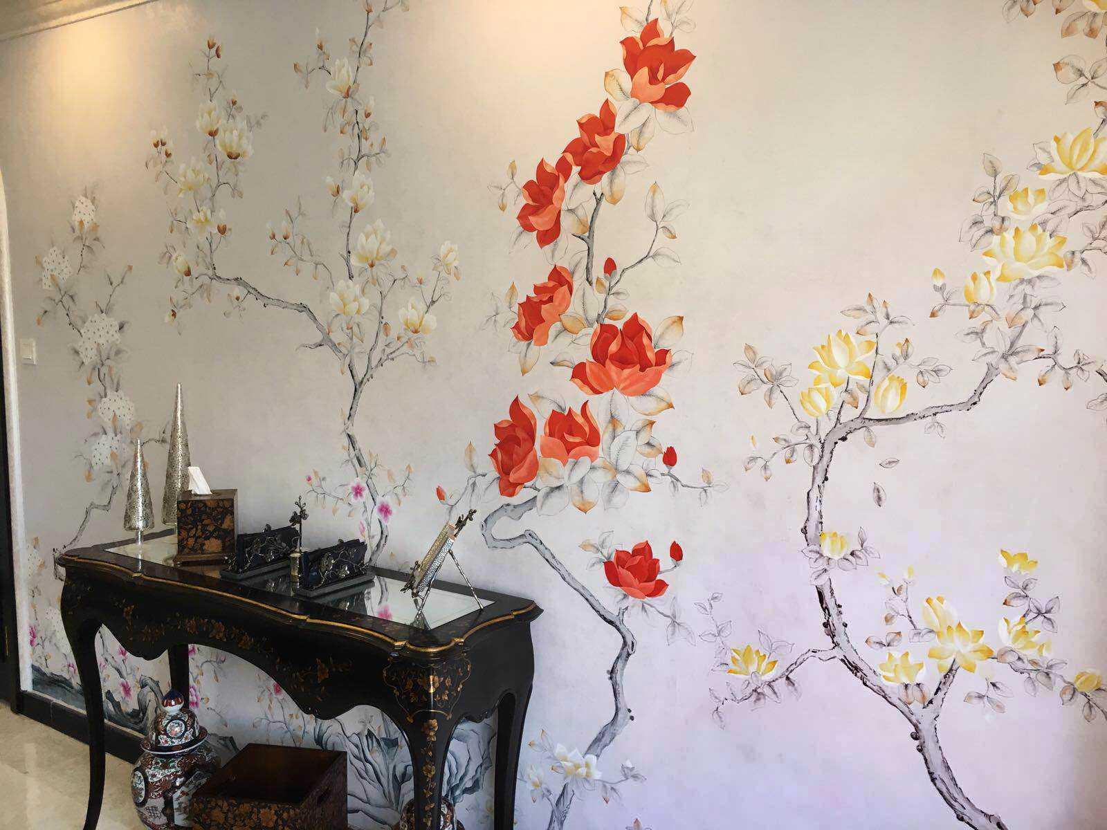 Роспись стен в квартире, художественная роспись своими руками в интерьере детской, стили и техника
