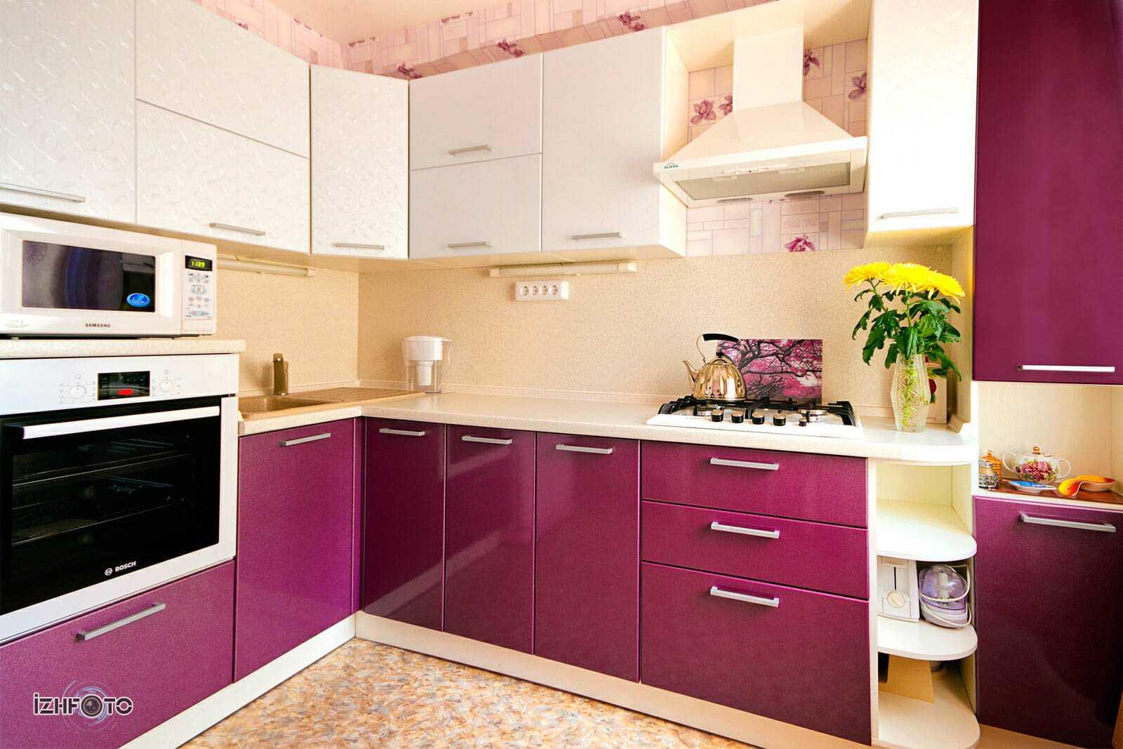 Оформление фиолетовой кухни: богатство палитры для эксклюзивного интерьера