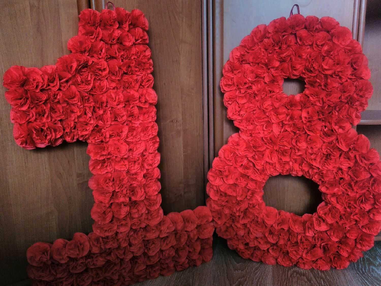 Цифры из салфеток инструкция пошаговая. украшаем цифру салфетками. единичка, декорированная семейными фото.