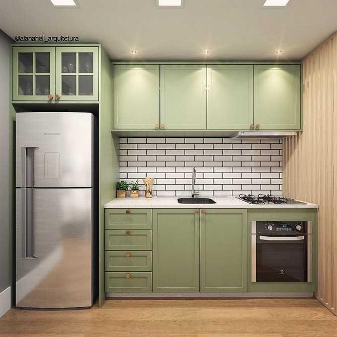 Красивая кухня фисташкового цвета: особенности сочетаний