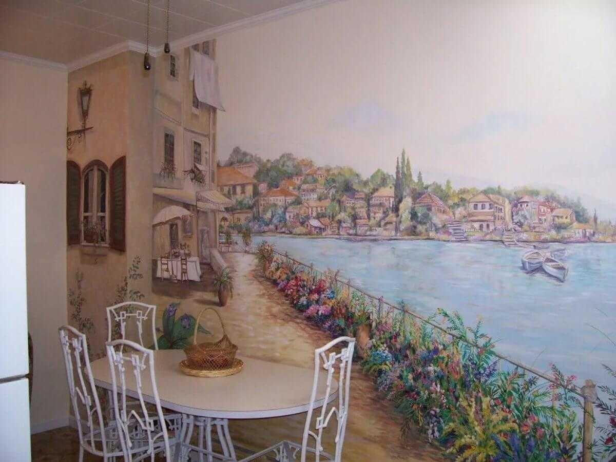 Роспись стен: 100 фото вариантов украшения стен при помощи росписи и особенности оформления росписью
