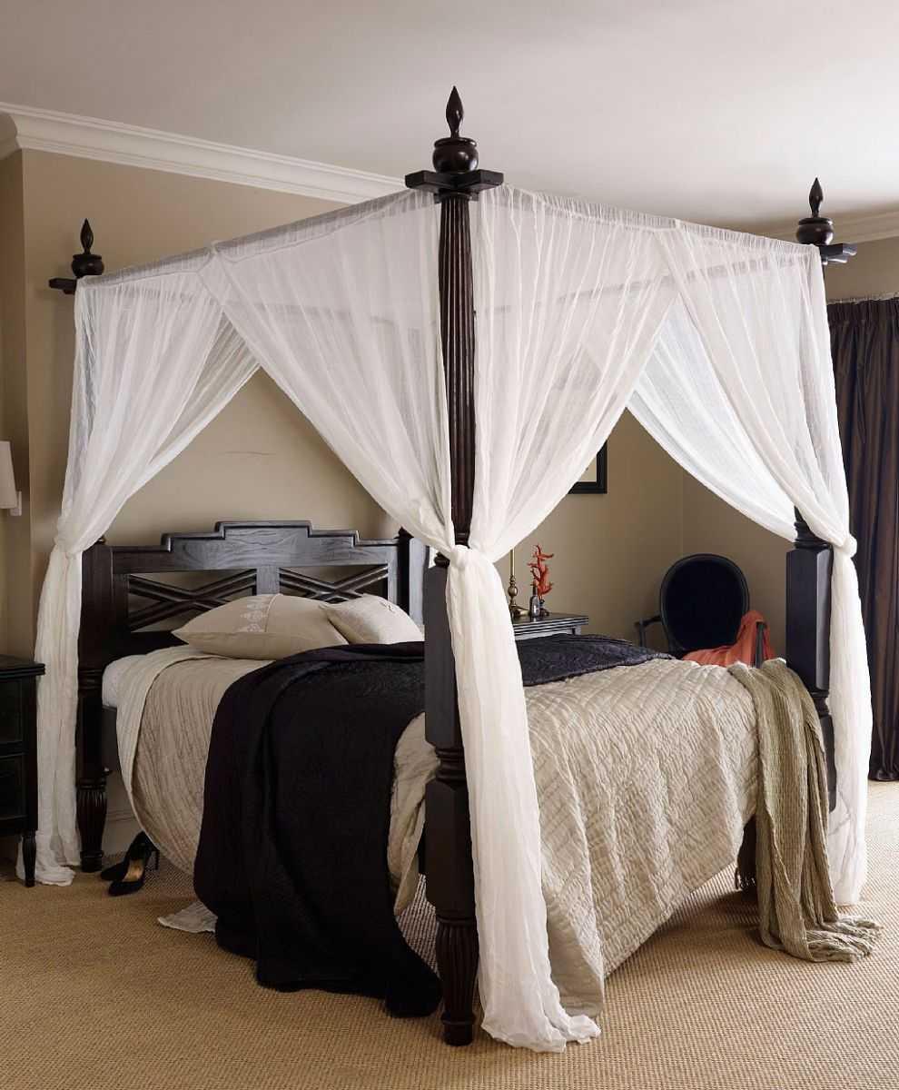 Стиль спальни: кровать с балдахином - 70 идей для романтиков