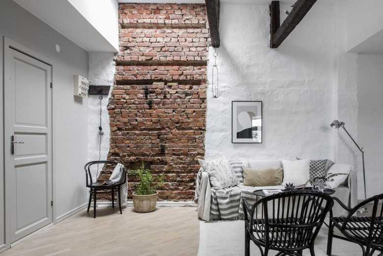 Кирпич в интерьере кухни: руководство по оформлению стен
