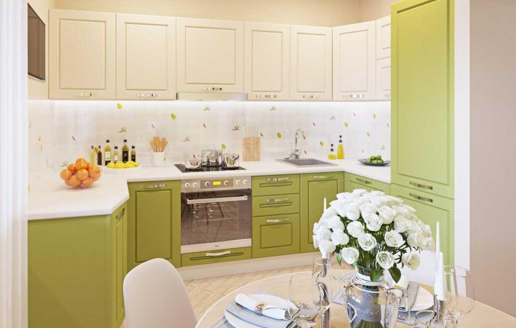 Интерьер кухни в мятном цвете (76 фото)