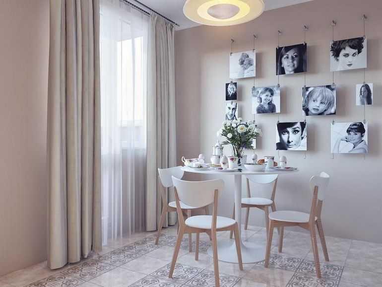 Запоминающееся оформление стены над кухонным столом -самые яркие идеи на фото
