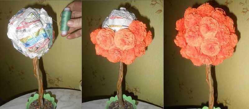 ᐉ делаем топиарии из гофрированной бумаги. мастер-класс: топиарий из салфеток. мастер - класс по изготовлению цветочного топиария своими руками ✅ igrad.su