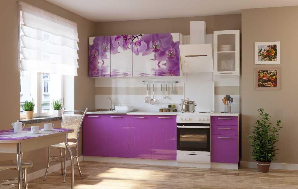 Фиолетовая кухня (81 фото): кухонные гарнитуры в лиловых тонах с белым, черным и серым в интерьере. дизайн кухонь в фиолетовом цвете
