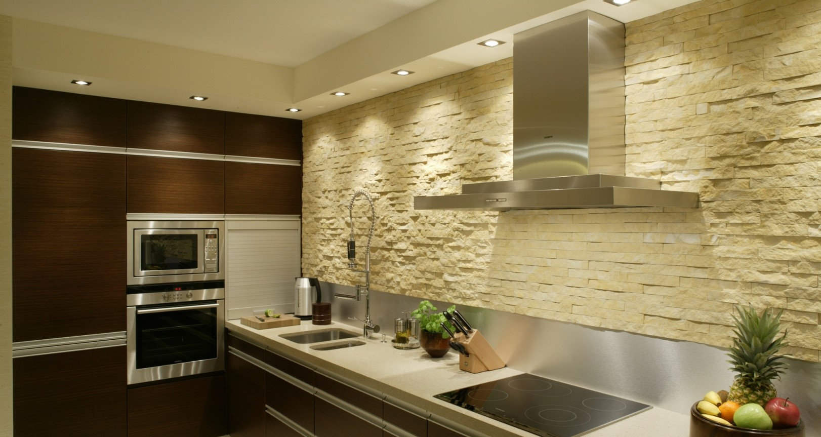 модная отделка стен на кухне фото навесных