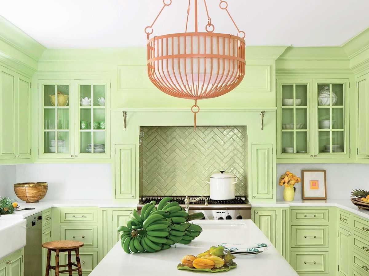 Сочетание цветов в интерьере кухни - 50 фото