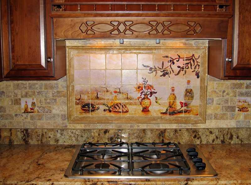 Кафель на фартук кухни: фото и новинки кафельной плитки