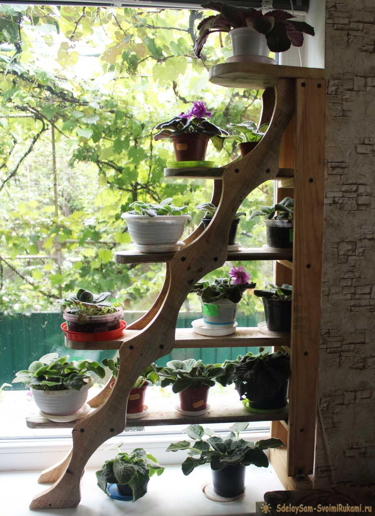 Деревянные полочки для цветов своими руками фото