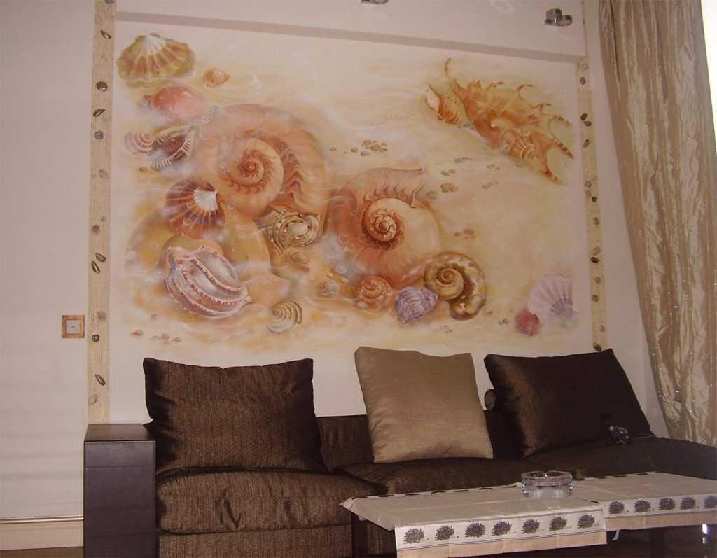 Роспись стен на кухне (+фото)