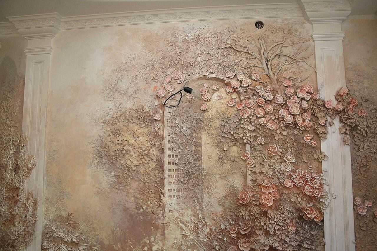 Роспись стен на кухне (46 фото): художественная роспись в стиле прованс в интерьере своими руками